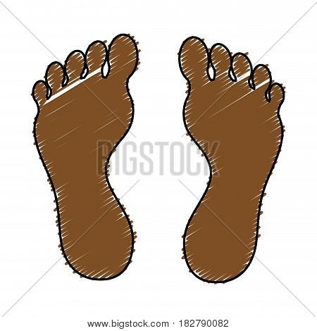 human foot plant icon vector illustration design