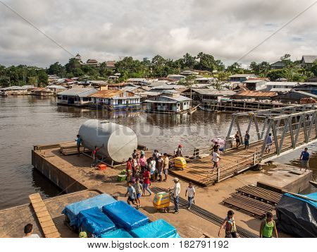 Port On The Amazon River