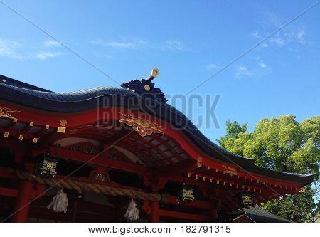 Ikuta Shrine, One of Japan's most famous shrines.