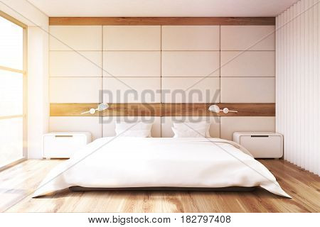 Bedroom With White Wall, Toned