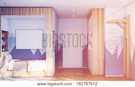 Kids Room With Poster, Mountain, Toned