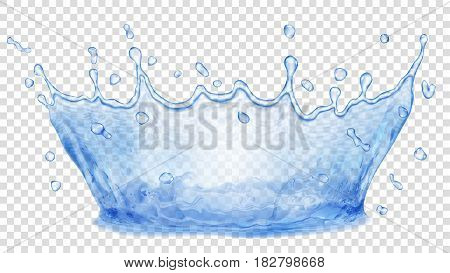 Water Crown. Splash Of Water. Transparency Only In Vector File