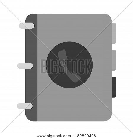 phone directory icon over white background. vector illustration