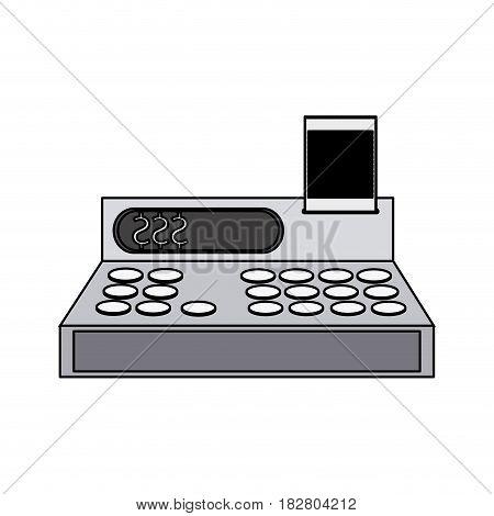 cash register icon image vector illustration design