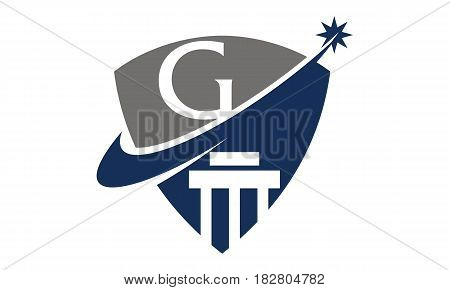 This vector describe about Justice Law Initial G