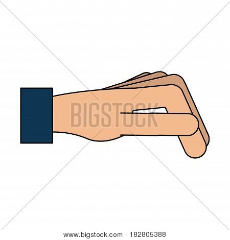 hand sideview icon image vector illustration design
