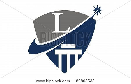 This vector describe about Justice Law Initial L