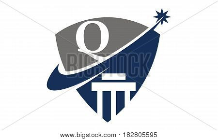 This vector describe about Justice Law Initial Q
