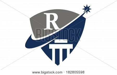 This vector describe about Justice Law Initial R