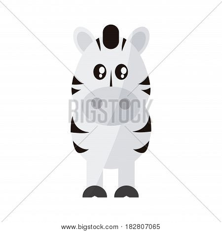 zebra animal cartoon icon over white background. colorful design. vector illustration