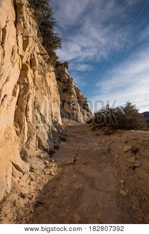 Rocky Cliff Trail Heading Uphill