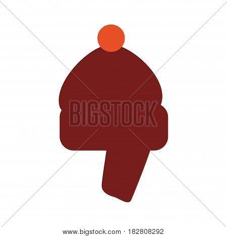 Winter hat wear accesorie icon vector illustration graphic design
