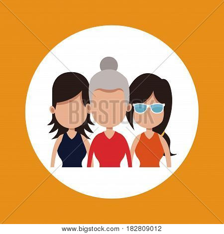 women group different age vector illustration eps 10