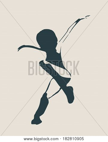 Sexy women silhouette. Fashion mannequin. Vector Illustration. Flying lady