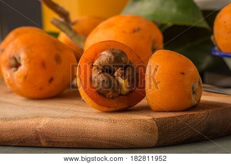 Loquats On Kitchen Counter