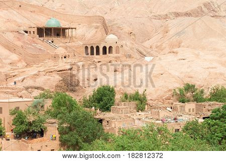Xinjiang, China - May 05 2015: Tuyuk Valley(tuyugou) Scenic Spot. A Famous Historic Site In Turpan,