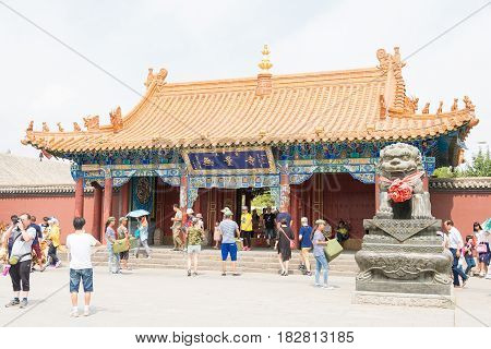 Inner Mongolia, China - Aug 13 2015: Dazhao Lamasery. A Famous Historic Site In Hohhot, Inner Mongol