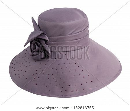 Beach Hat Isolated On White Background .putple Hat