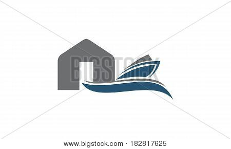 This vector describe about Boat Shed Repair Workshop