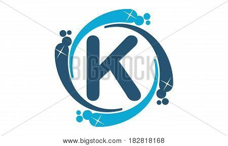 This vector describe about Water Clean Service Abbreviation Letter K