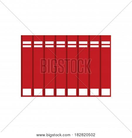 red encyclopedia books learning vector illustration eps 10