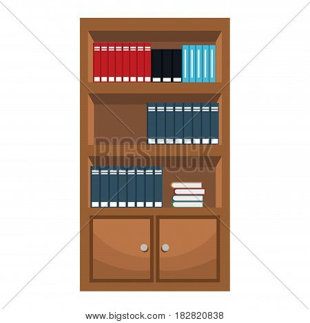 bookshelf furniture office image vector illustration eps 10