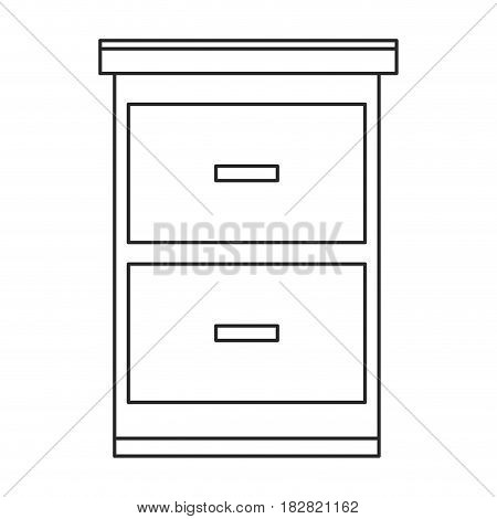 file cabinet document image vector illustration eps 10