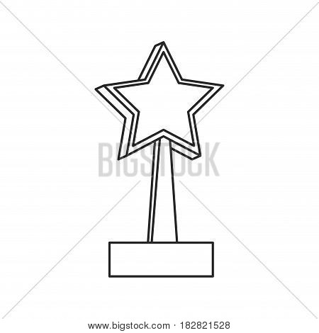 star trophy win prize outline vector illustration eps 10