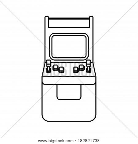 Videogame arcade machine icon vector illustration graphic design