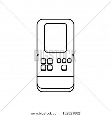 Tetris videogame console icon vector illustration graphic design