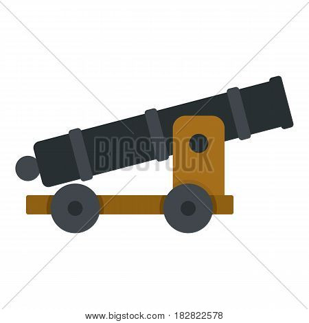 Cannon icon flat isolated on white background vector illustration