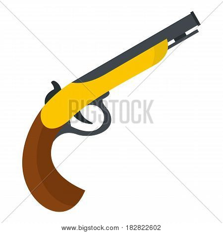 Gun icon flat isolated on white background vector illustration