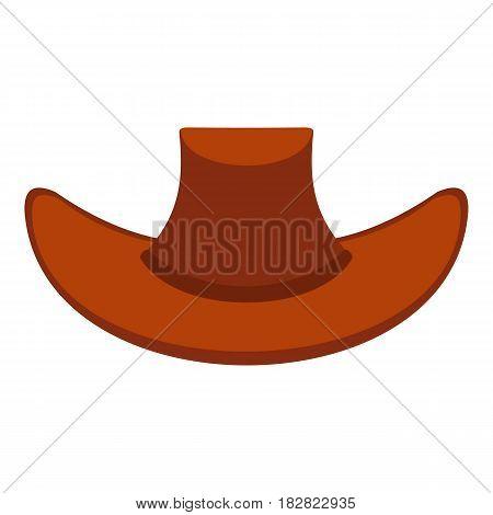 Cowboy hat icon flat isolated on white background vector illustration
