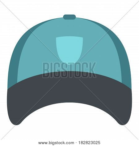 Winter hat icon flat isolated on white background vector illustration