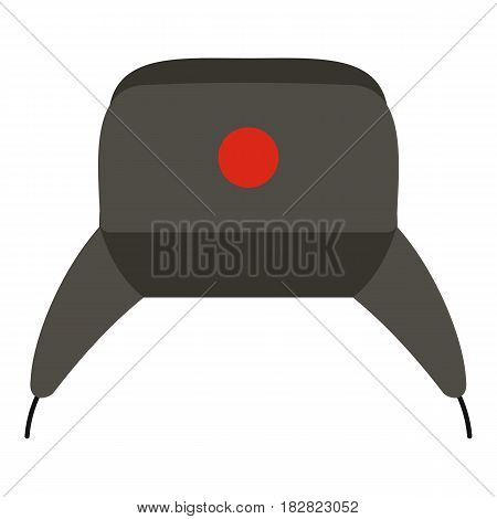 Earflap hat icon flat isolated on white background vector illustration