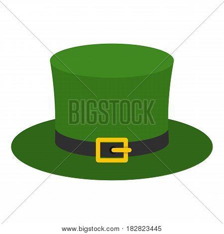 Leprechaun hat icon flat isolated on white background vector illustration