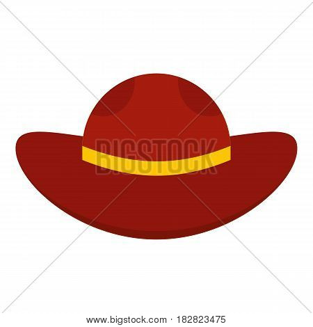 Sea hat icon flat isolated on white background vector illustration