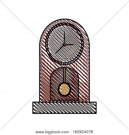 clock pendulum time classic vector illustration eps 10