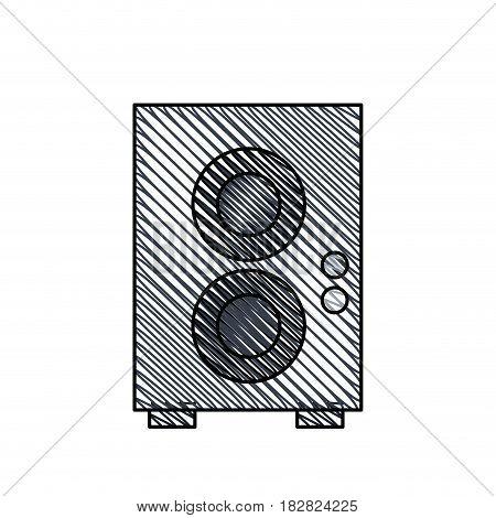 speaker sound audio image vector illustration eps 10