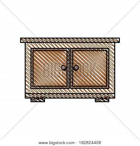 bedside table furniture room vector illustration eps 10