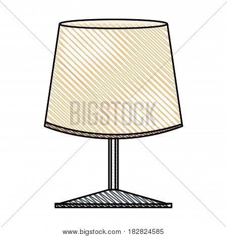 lamp light decoration object vector illustration eps 10