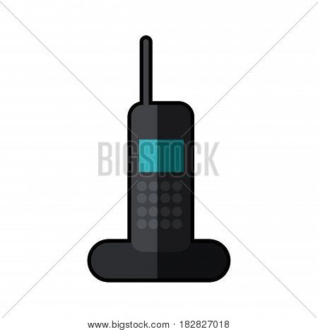 cordless phone technology call shadow vector illustration eps 10