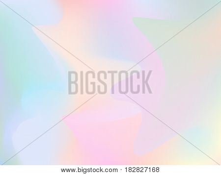 Blurry holographic background. Trendy silky glitch wallpaper. Iridescent hologram. Chatoyant backdrop. Nacreous pearl texture in pastel colors. Blur colorful pattern. Petrol spot background.