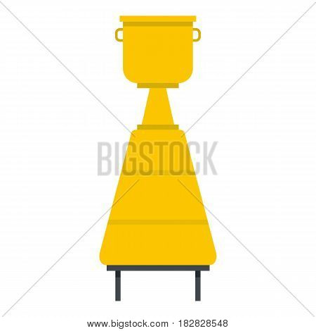 Equipment for the production of wine icon flat isolated on white background vector illustration