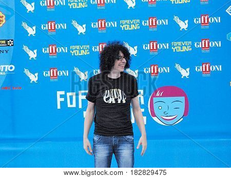 Giffoni Valle Piana Sa Italy - July 22 2013 : Giovanni Allevi at Giffoni Film Festival 2013 - on July 22 2013 in Giffoni Valle Piana Italy
