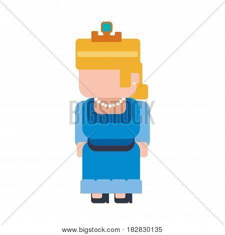 Princess Pixelated videogame vector illustration graphic icon design