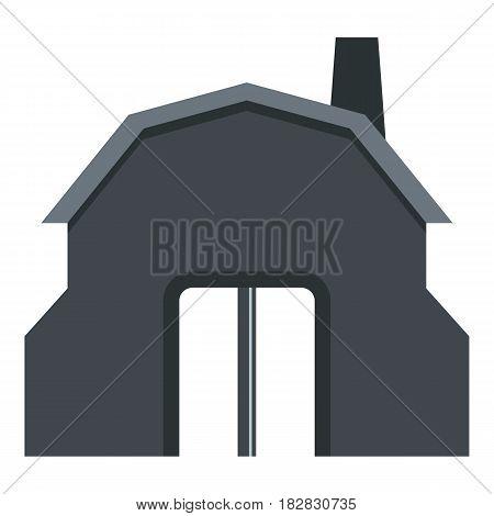 Blacksmith workshop building icon flat isolated on white background vector illustration