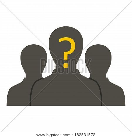 Group of business people icon flat isolated on white background vector illustration