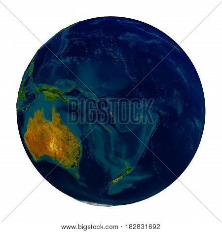 Vanuatu Highlighted On Globe