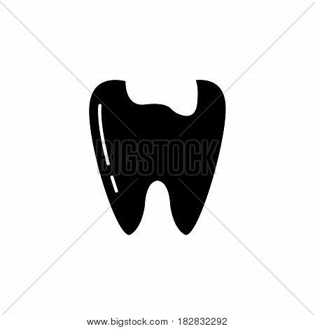 Caries tooth solid icon, Dental and medicine, sick tooth vector graphics, a filled pattern on a white background, eps 10.